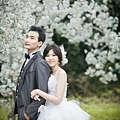 自助婚紗/婚紗照/婚紗攝影-白紗前短後長羽毛款