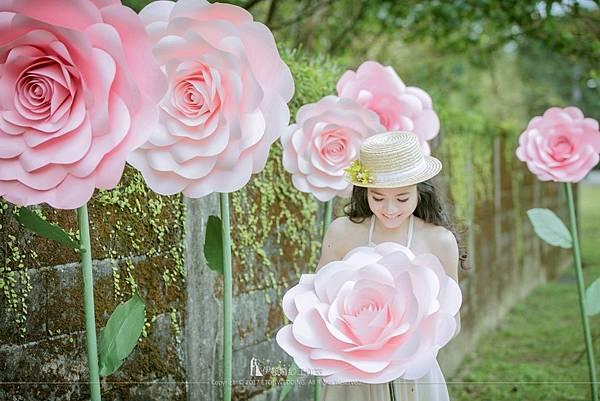 巨大紙花製作