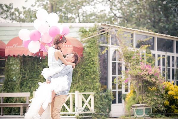 氣球婚紗照片