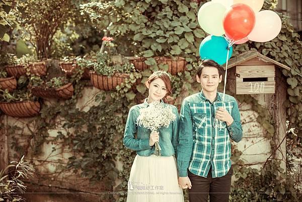 婚紗照氣球