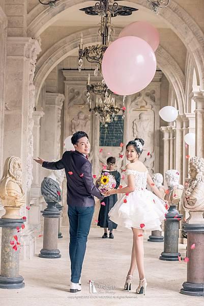氣球婚紗照道具
