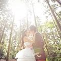 逆光婚紗照拍攝