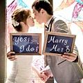 婚紗道具字板