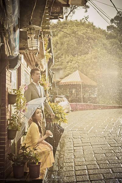 拍婚紗下雨改期