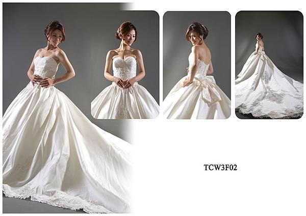 手工婚紗出租-手工白紗TCW3F02