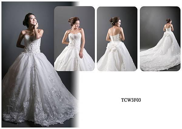 手工婚紗出租-手工白紗TCW3F03