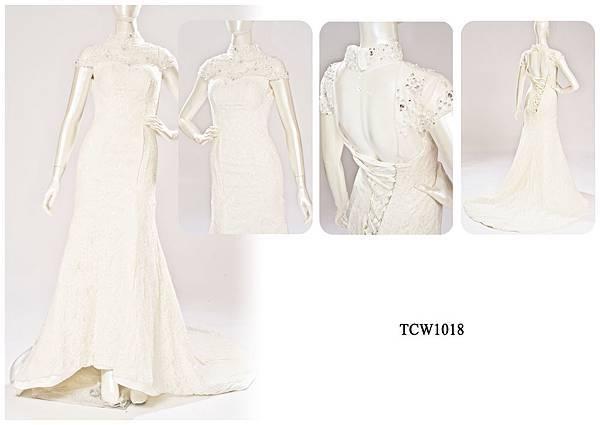 手工婚紗出租-手工白紗TCW1018