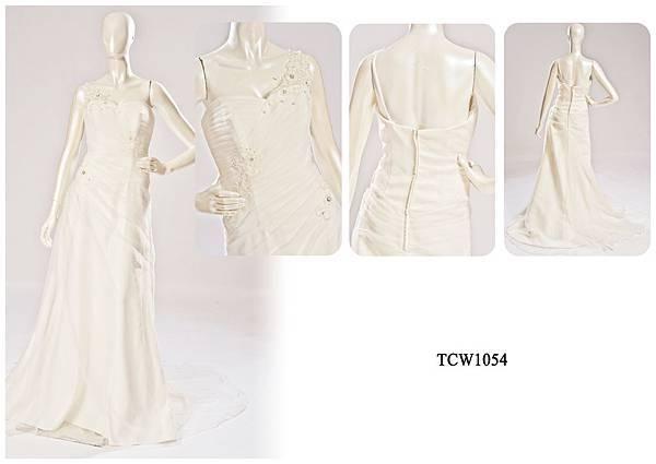 手工婚紗出租-手工白紗TCW1054
