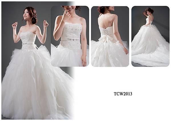 手工婚紗出租-手工白紗TCW2013