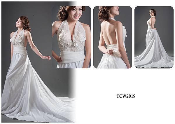 手工婚紗出租-手工白紗TCW2019