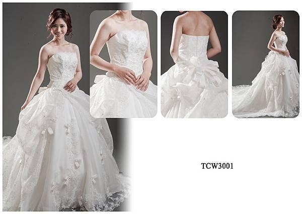 手工婚紗出租-手工白紗TCW3001