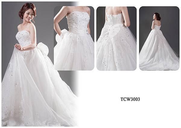 手工婚紗出租-手工白紗TCW3003