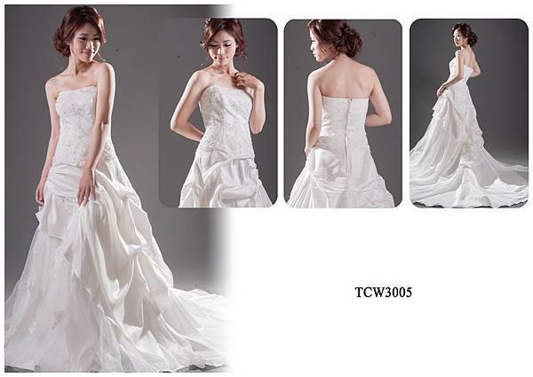 手工婚紗出租-手工白紗TCW3005