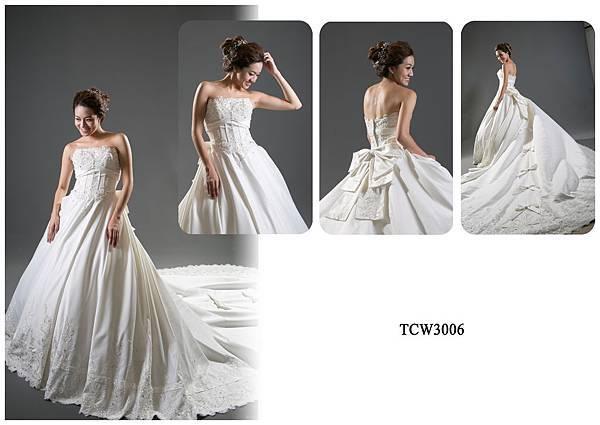 手工婚紗出租-手工白紗TCW3006