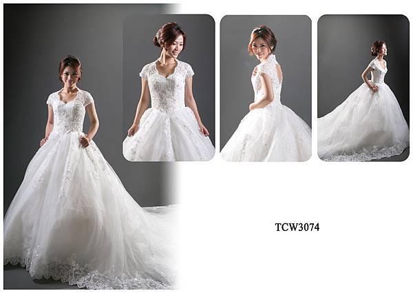 手工婚紗出租-手工白紗TCW3074