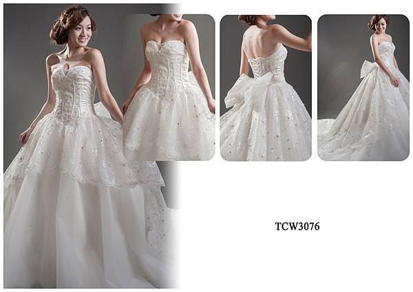 手工婚紗出租-手工白紗TCW3076