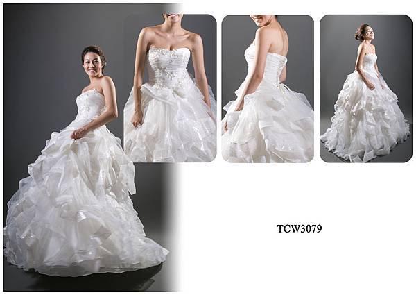 手工婚紗出租-手工白紗TCW3079