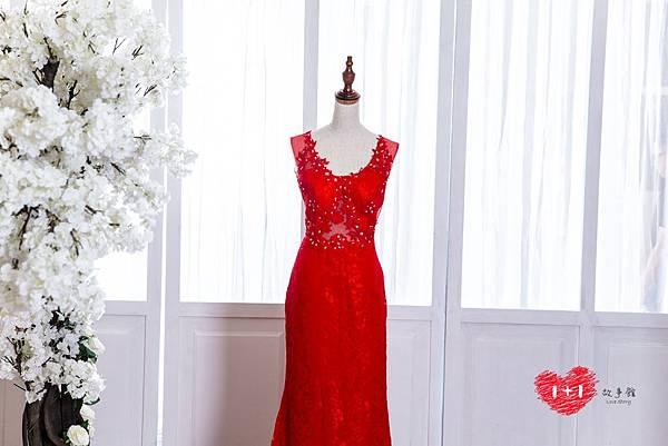 手工婚紗推薦:公主方鑽晚禮服
