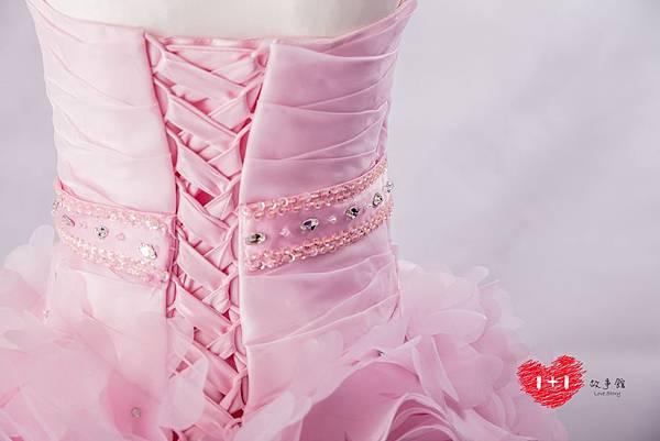 手工婚紗:森林系露背禮服晚禮服