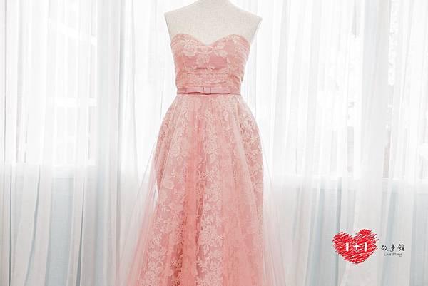 手工婚紗:妖女系拼接心機晚禮服