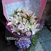 [AC005]愛的回答 __百合玫瑰花束$1499.jpg