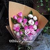 [AC004] 思念心情__11朵紫玫瑰花束$1299.jpg