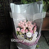 [AC007] 愛戀鐵達尼 __20朵鐵達尼玫瑰花束$1999.jpg