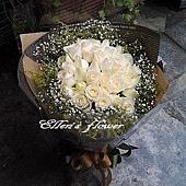 [AC008] 白色約定 __33朵白玫瑰花束$1999.jpg