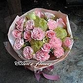 [AC010] 溫柔情話__9朵粉玫瑰花束$1450.jpg