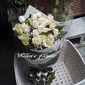 [AC013] 心的承諾__11朵白玫瑰花束$1399.jpg