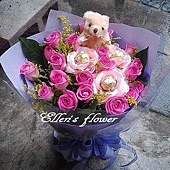 [AC020] 難忘之約__20朵紫玫瑰花束$1499.jpg