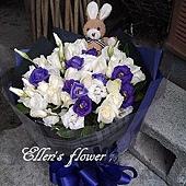 [AC027] 陪在妳身邊_20朵白玫瑰花束$1699.jpg