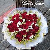 [AC028] 愛在這裡_33朵紅玫瑰花束$2199.jpg