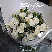 [AC034]清新佳人 _20朵白玫瑰花束$1699.jpg
