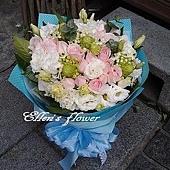 [AC036] 清晨花香_18朵粉玫瑰花束$1899.jpg