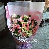 [AC038] 相知相許_20朵粉玫瑰花束$1650.jpg