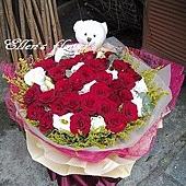 [AC039] 秋紅花園_33朵紅玫瑰花束$2490.jpg