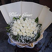 [AC035] 落雨春花_33朵白玫瑰花束$1999.jpg