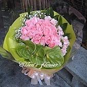 [AC041] 溫柔笑語_20朵粉玫瑰花束$1650.jpg