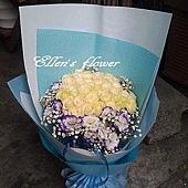 [AC040] 城市光點_33朵白玫瑰花束$2099.jpg