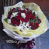 [AC048] 暮色紅花_20朵紅玫瑰花束$1690.jpg