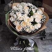 [AC050] 如夢似幻_33朵白玫瑰花束$1999.jpg