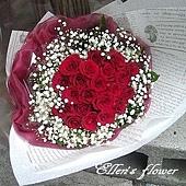 [AC051] 為愛燃燒_22朵紅玫瑰花束$1750.jpg