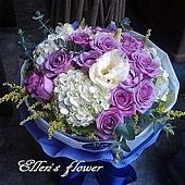 [AC052] 彩蝶飛舞_20朵紫玫瑰花束1999.jpg