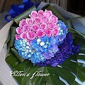 [AC053] 紫蝶迷情_20朵紫玫瑰花束$2699.jpg