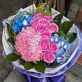 [AC055] 春風無限_10朵紫玫瑰花束1699.jpg