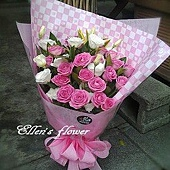 [AC060] 桃氣甜心_20朵紫玫瑰花束1650.jpg