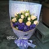 [AC061] 斜月清照_11朵香檳玫瑰花束1450.jpg