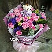 [AC062] 紫花饗宴_20朵紫玫瑰花束$1799.jpg