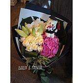 [AC071] 珍惜擁有__15朵白玫瑰百合花束$1899.jpg